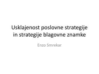Usklajenost poslovne strategije in strategije blagovne znamke