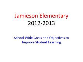 Jamieson Elementary 2012-2013