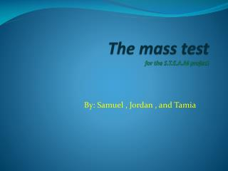 The mass test for the S.T.E.A.M project