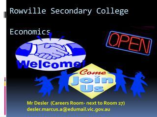 Rowville Secondary College Economics