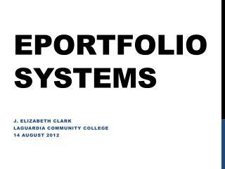 ePortfolio  Systems
