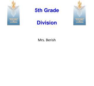 5th Grade Division