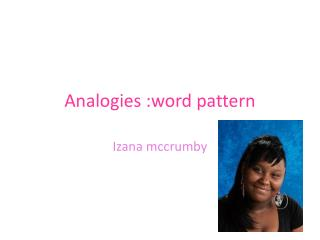 Analogies :word pattern