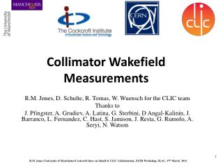 Collimator Wakefield Measurements