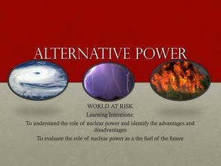 Alternative power