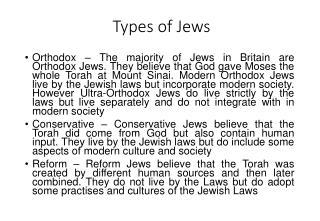 Types of Jews