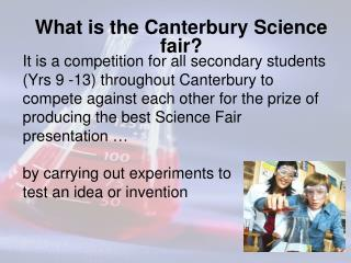 What is the Canterbury Science fair?