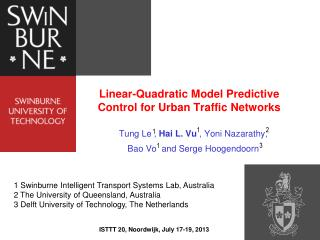 Linear-Quadratic Model Predictive Control for Urban Traffic Networks