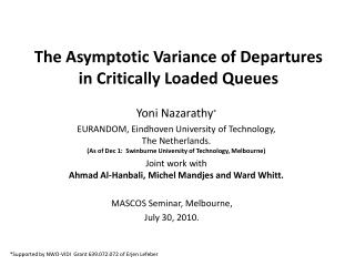 The Asymptotic Variance of Departures in Critically Loaded Queues