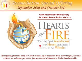 reconciliationministry   Facebook: Reconciliation Ministry