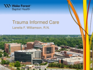 Understanding the Effects of Trauma on the Lives of Those We Serve Developing Trauma Informed  Systems of Care