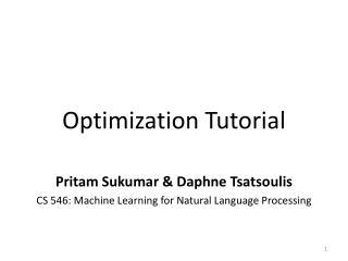 Optimization Tutorial