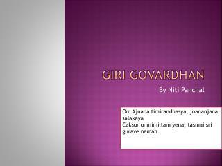 Giri Govardhan