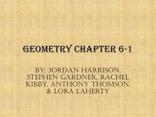 Geometry Chapter 6-1