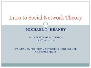 Intro to Social Network Theory