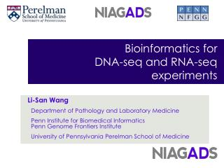 Bioinformatics for  DNA - seq  and RNA- seq  experiments