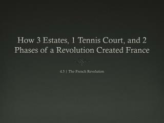 How 3 Estates, 1 Tennis Court, and 2 Phases of a Revolution Created France