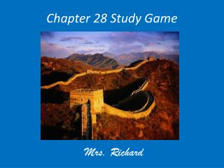 Chapter 28 Study Game