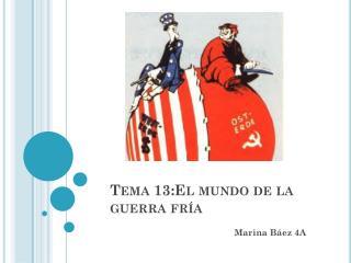 Tema 13:El mundo de la guerra fría