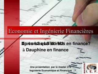 Economie et Ing nierie Financi res