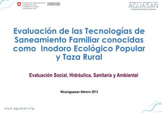 Evaluación Social, Hidráulica, Sanitaria y Ambiental