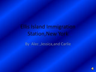 Ellis Island Immigration                     Station,New York