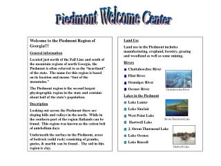 Piedmont Welcome Center