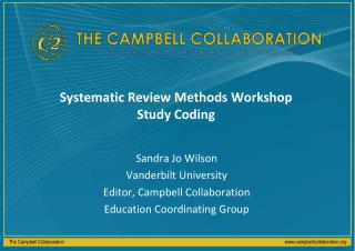 Systematic Review Methods Workshop Study Coding