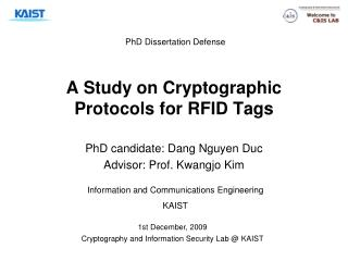 A Study on Cryptographic Protocols for RFID Tags