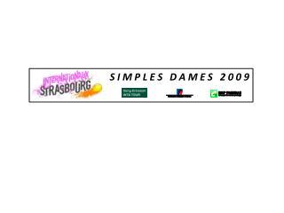 SIMPLES DAMES 2009