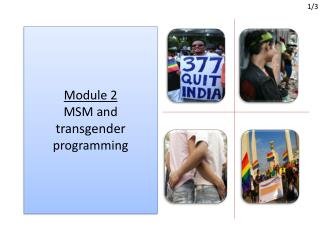 Module 2 MSM and  transgender  p rogramming