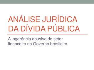Análise jurídica da dívida pública