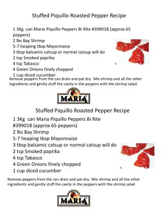 Stuffed Piquillo Roasted Pepper Recipe