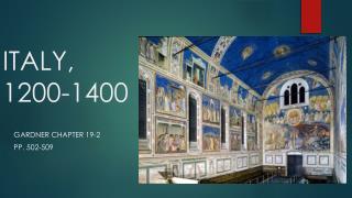 ITALY, 1200-1400