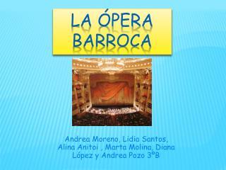 La ópera barroca