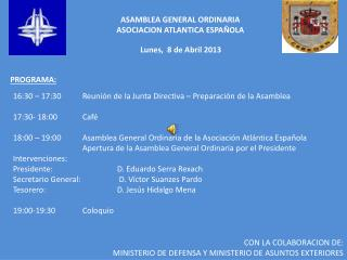 ASAMBLEA GENERAL ORDINARIA   ASOCIACION ATLANTICA ESPAÑOLA