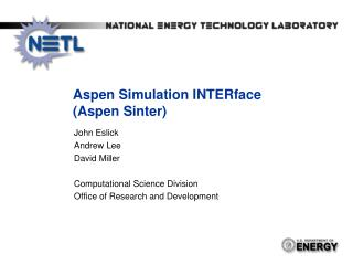 Aspen Simulation  INTERface  (Aspen Sinter)
