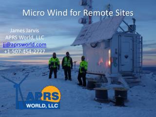 Micro  Wind  for  Remote Sites