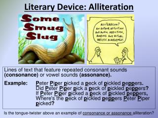 Literary Device: Alliteration