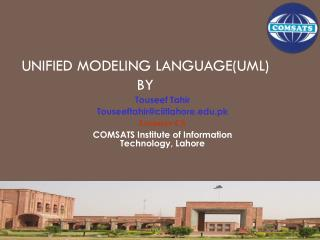 Unified Modeling Language(UML) BY