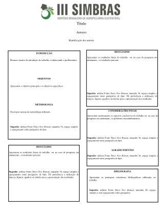 Título Autores Identificação dos autores