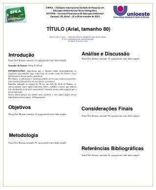T�TULO (Arial, tamanho 80)