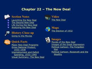 Chapter 22 � The New Deal
