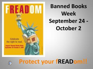 Banned Books Week September 24 - October 2