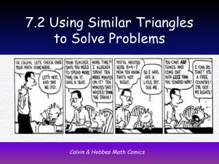 7.2 Using Similar Triangles to Solve Problems