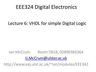 EEE324 Digital Electronics