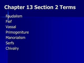 Chapter 13 Section 2 Terms