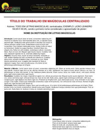 TÍTULO DO TRABALHO EM MAIÚSCULAS CENTRALIZADO