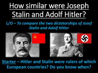 how were mussolini stalin and hitler s rise to power similar Hitler vs - hitler vs stalin: a compare and timeline of stalin's, hitler's, and mussolini's how did joseph stalin rise to power stalin did more harm.