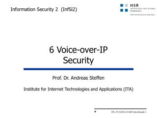 Information  Security 2  ( InfSi2 )